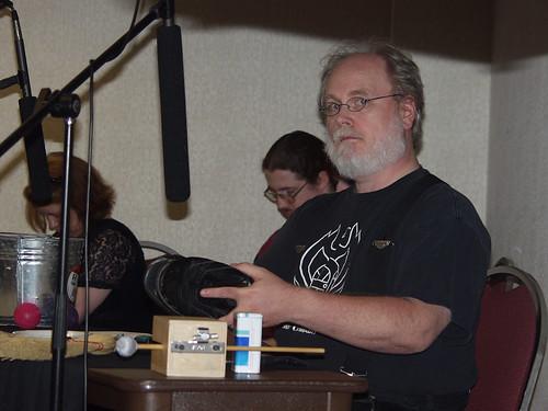 Daniel Taylor at the Foley table
