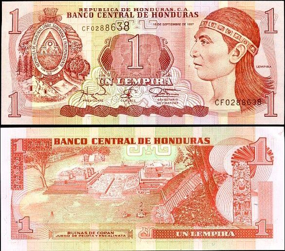 1 Lempira Honduras 1997, Pick 79