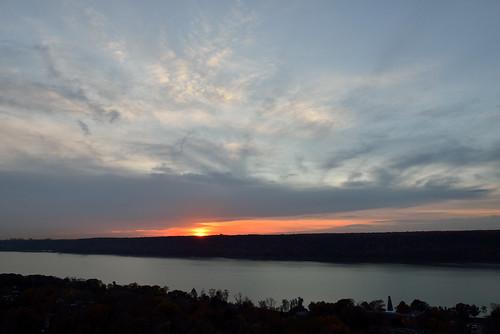 nyc sun sundown bronx sunsets hudsonriver newjerseypalisades