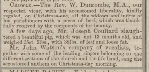 Crowle Lincolnshire Chronicle Friday 09 January 186