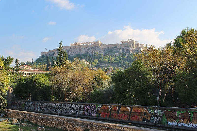 Acropolis graffiti, Athens, Greece