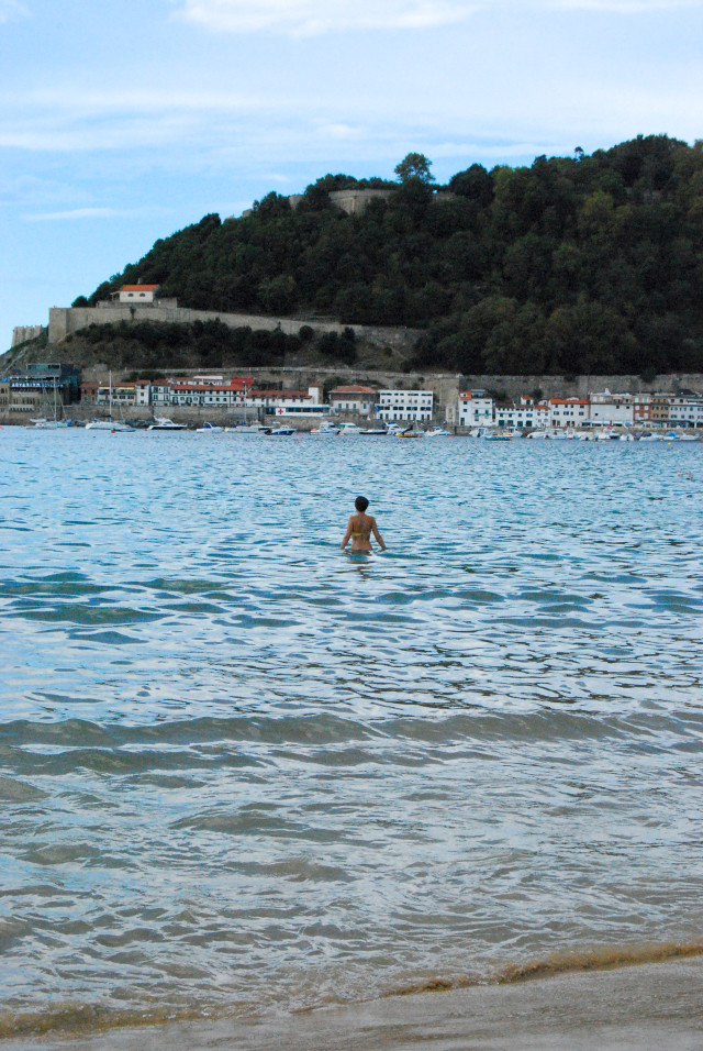 Swimming on Playa de La Concha, San Sebastián