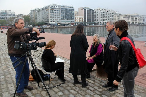 Hanna Schygulla about to be interviewed at the Thessaloniki Film Festival, Greece
