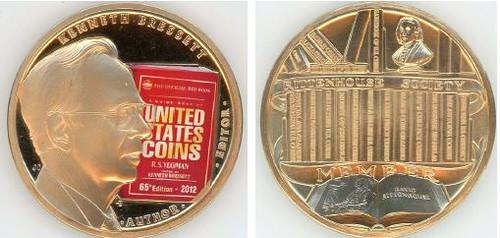 Ken Bressett 2012 Rittenhouse Society medal