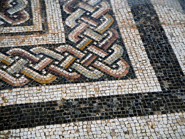 Roman Mosaic Floor at Clunia in Spain