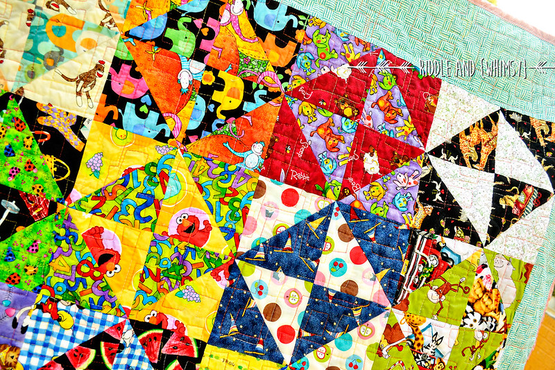 Riddle and {Whimsy} Charity quilt (close up)