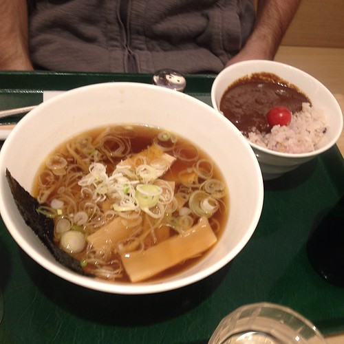 Ramen and curry from T's Tan Tan in Tokyo station - so cool to see an all vegan spot with such a long line!