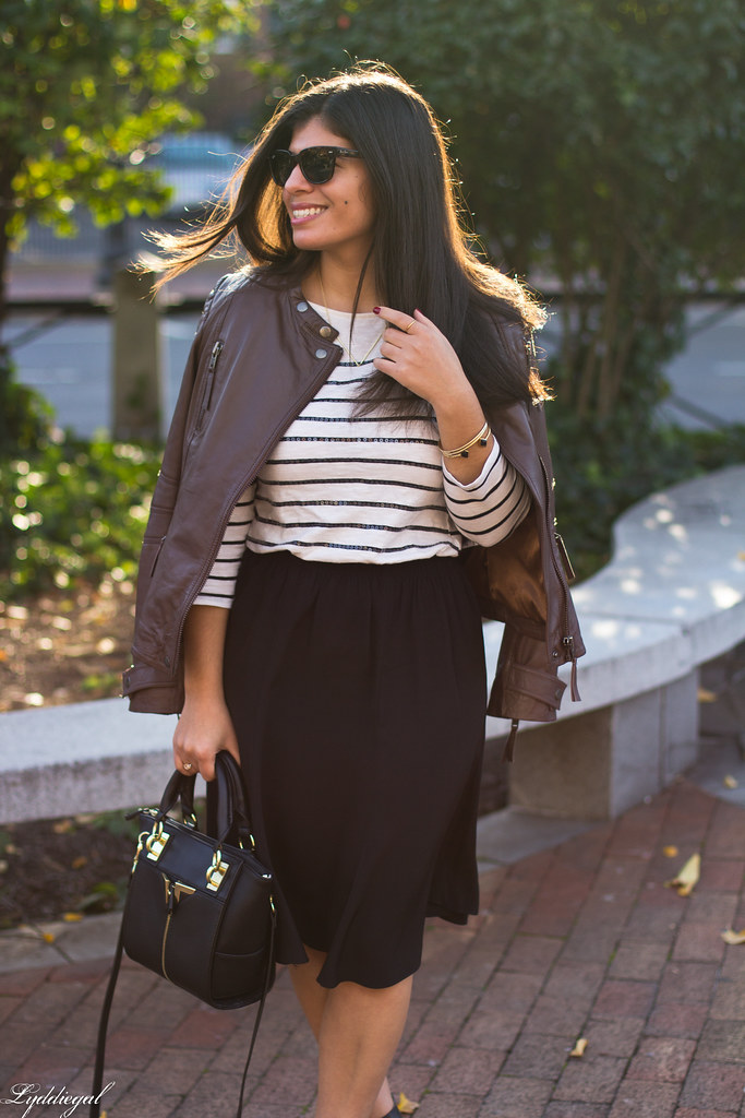 leather jacket, black skirt, striped shirt-8.jpg