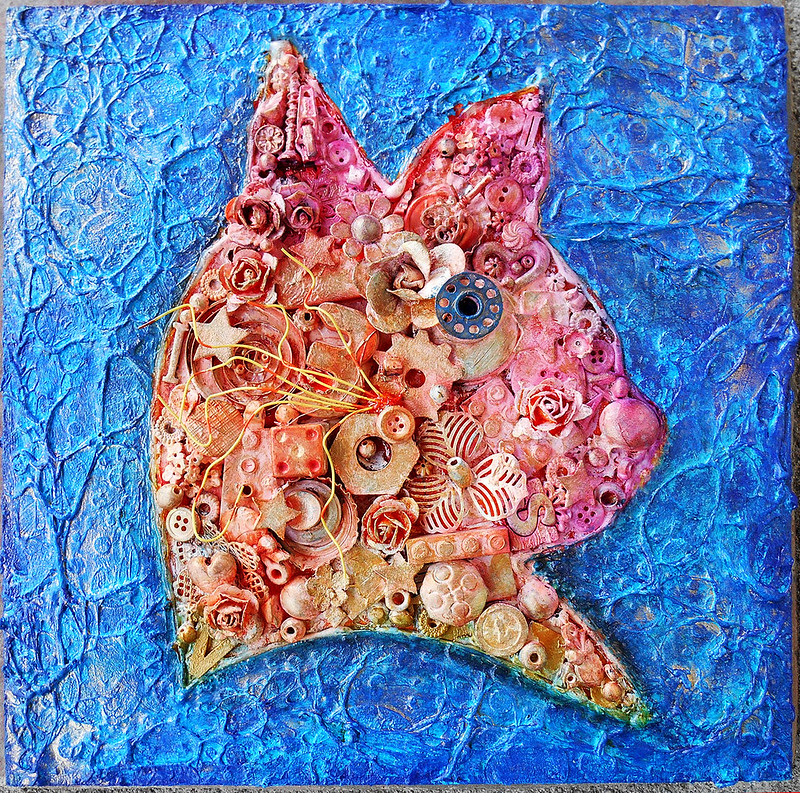 Mixed Media - Cat