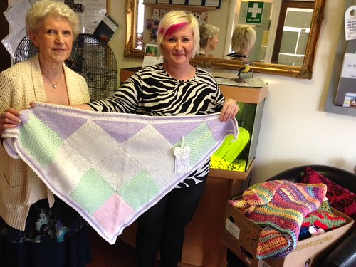 St. Michael's Home for the Elderly. Delivery 21 Shawls.