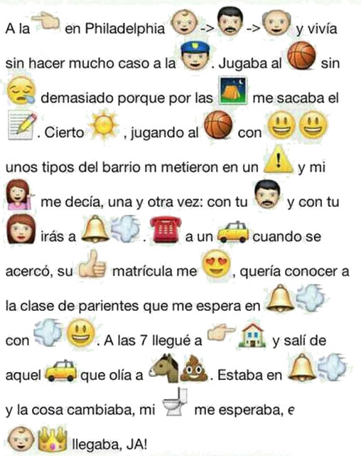 Cancion popular con los emoticonos del WhatsApp