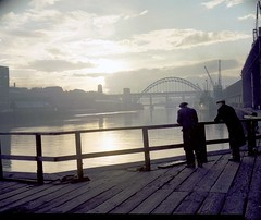 Atmospheric view of the Tyne Bridge, 1959