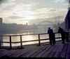 Atmospheric view of the Tyne Bridge, 1959