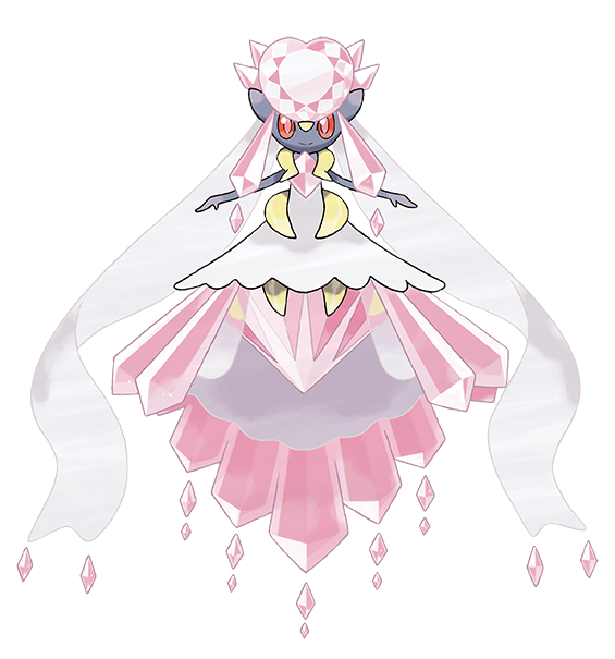 After obtaining the Diancite Mega  Stone in the new games, players can Mega Evolve Diancie into Mega Diancie during battles
