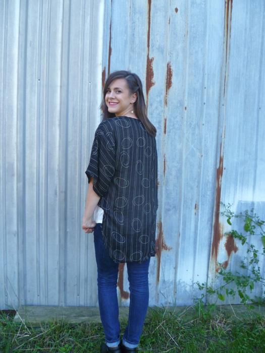 DIY Reversible Kimono Refashion from Dress by Hey, it's SJ