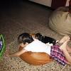 Mis dos niños viendo el iPad #PeteteVivas #Beagle y Guille