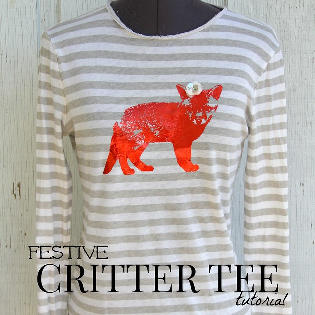 how to make a festive critter tee tutorial via Kristina J blog