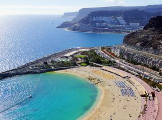 Playa de Amadores 在 Puerto Rico 附近 的形象. sea beach grancanaria puertorico cliffs amadores
