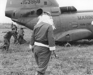 Santa Unloads Presents, Vietnam, 25 December 1969