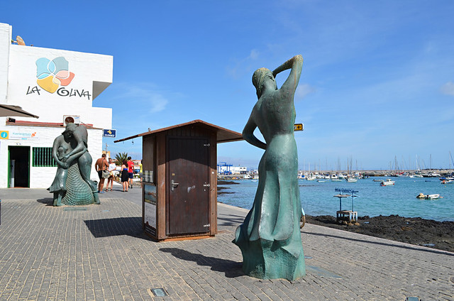 Sculptures, old town, Corralejo, Fuerteventura, Canary Islands