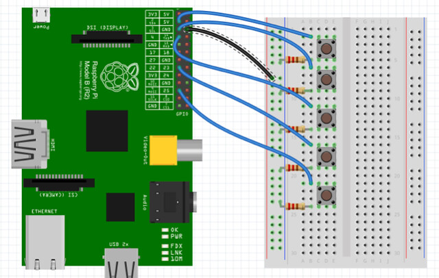 RPi-ano wiring diagram