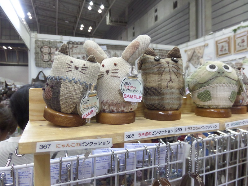 Cat, Rabbit and Frog Pincushions