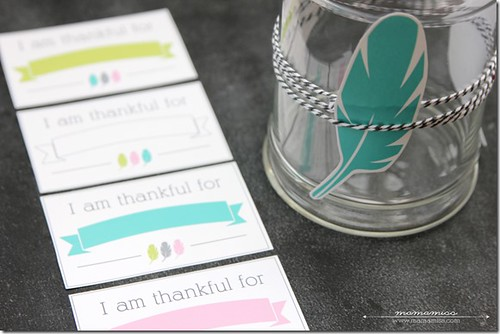 Thankful Jar with Free Printables (Photo from Mama Miss)