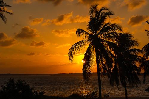 sunset kenya lamu shela