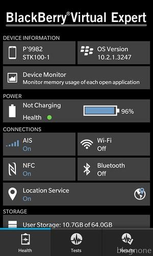 Information, BlackBerry Virtual Expert Screen