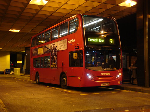 Metroline TE1742 on Route 91, Euston Station
