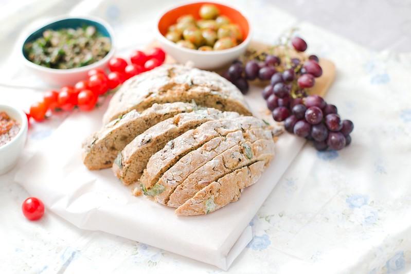 Almond, Raisin and Basil Soda Bread