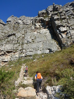 The way up Table Mountain