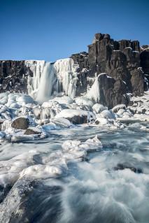 Iced Öxarárfoss