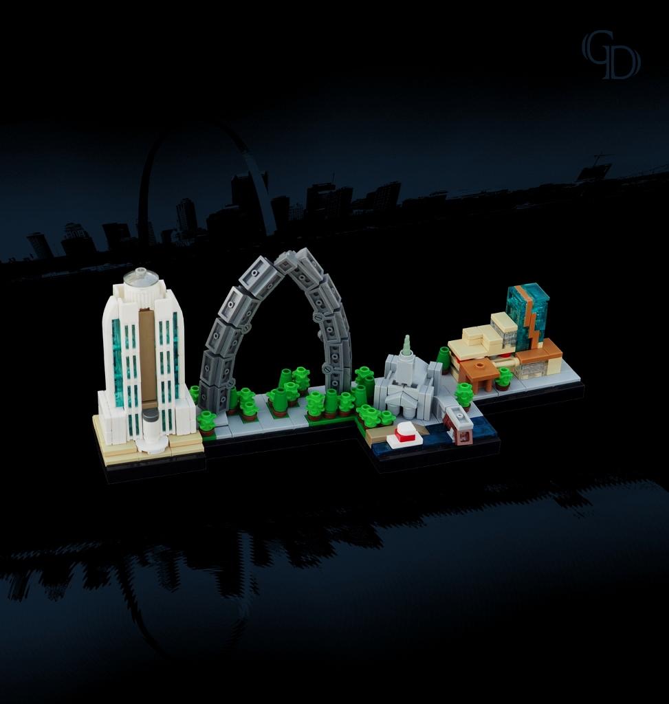 St. Louis Skyline (custom built Lego model)