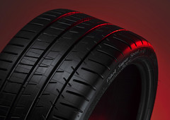 Michelin Pilot Super Sport Tyre on Red