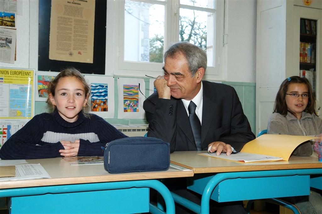 2005 - Rencontre avec les élèves de CM2 de l'école de Eyres-Moncube