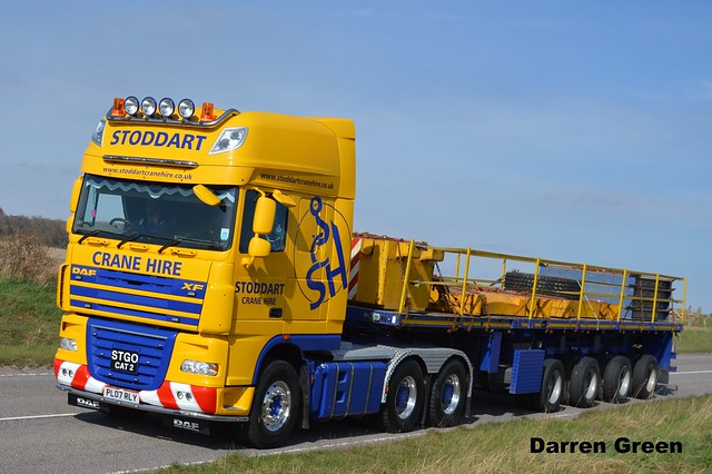 STODDART CRANE HIRE DAF XF 510 SUPER SPACE PL07 RLY
