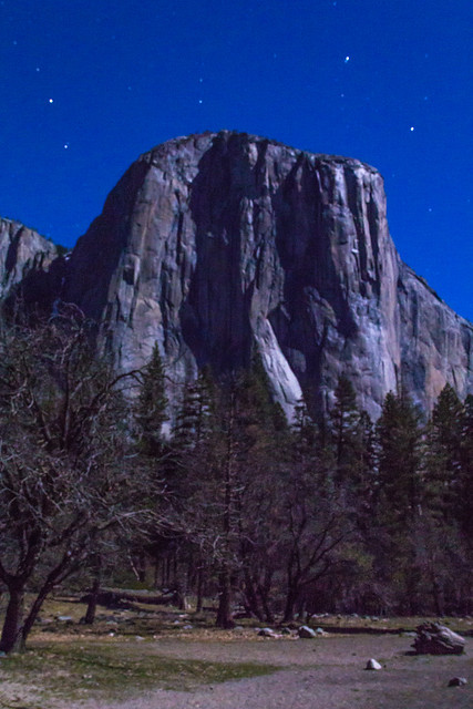 El Capitan by the Light of the Moon