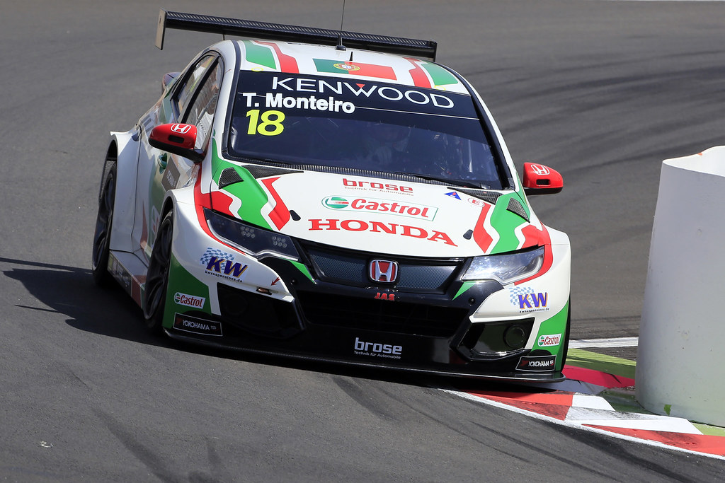 18 MONTEIRO Tiago (prt) Honda Civic team Castrol Honda WTC action during the 2017 FIA WTCC World Touring Car Race of Morocco at Marrakech, from April 7 to 9 - Photo Paulo Maria / DPPI