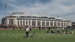 Macombs Dam Park with Yankee Stadium, Bronx, New York City