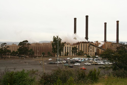 Southern side of the Energy Brix briquette plant at Morwell