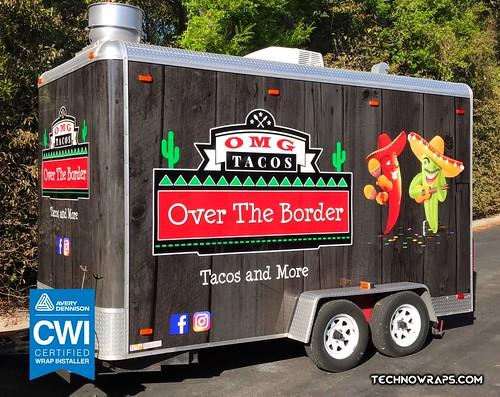 Vinyl food trailer wrap in Orlando, Florida