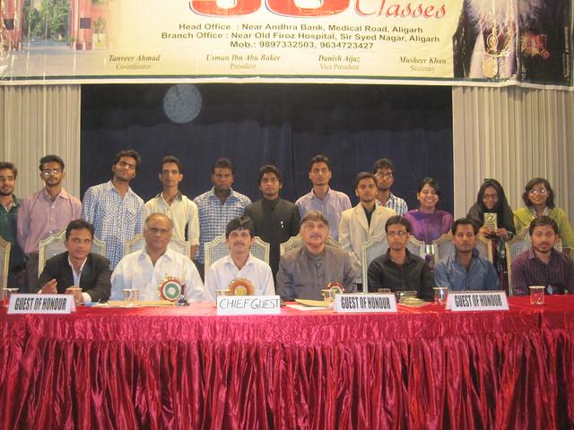 Sitting A. Niyazi, Prof. Shakeel Samdani, Imran with the winners.