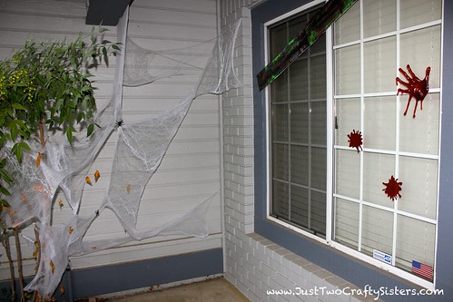 Zombie attack decor for Halloween