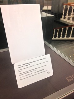 National Library of Scotland, empty display case, October 2014
