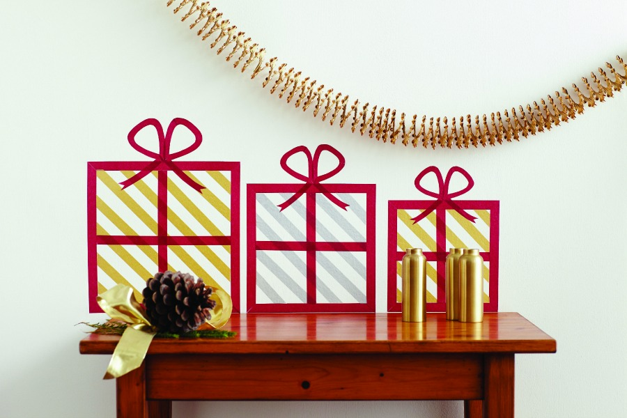 Washi Tape Wall Art - Christmas Packages