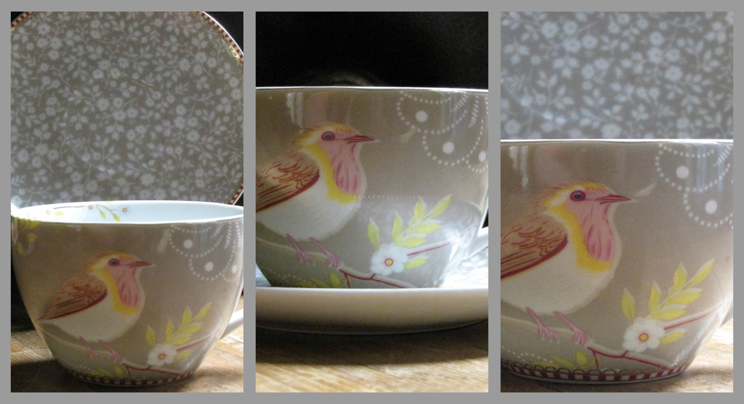 Khaki Bird Collage