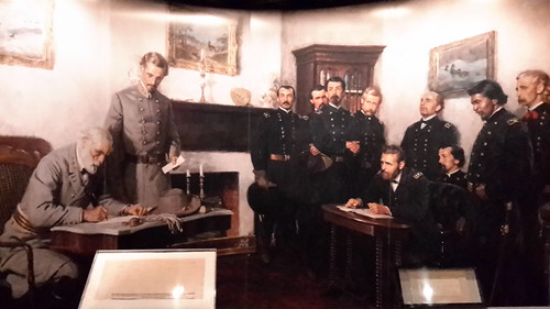 Lee's surrender to Grant at Appomattox Court House