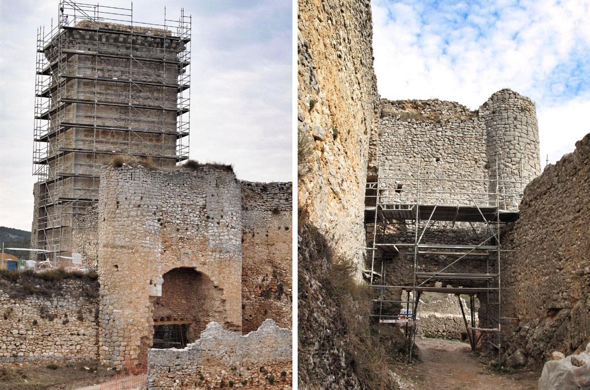 castillo ucero_soria_visita monumentos restauracion_IPCE_puerta escudo