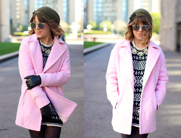 JOA pink teddy bear coat